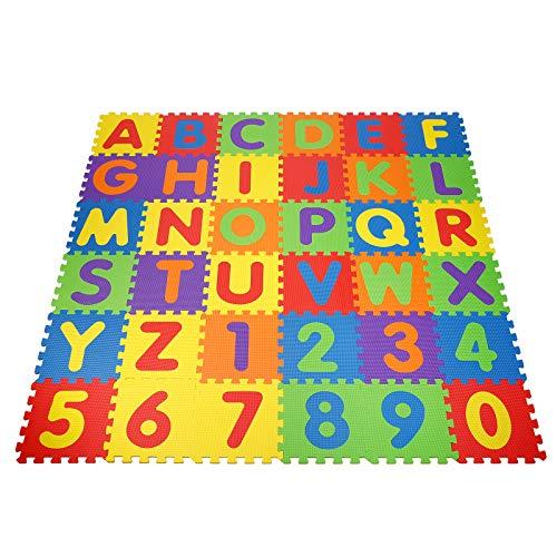 Alfombra Infantil Puzzle para Niños 36 Mat Espuma Letras Y Números Infantil Juego Alfombrillas 30.5 x 30.5cm