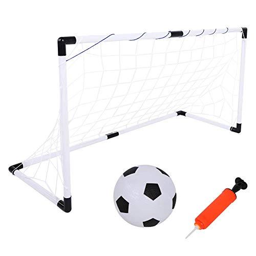 Alomejor Kids Football Goals Mini Football Goal Pelota de fútbol Plegable Goal Post Net Set Juego de Deportes para niños de fútbol Blanco Goal Net para niños Niños Chicas