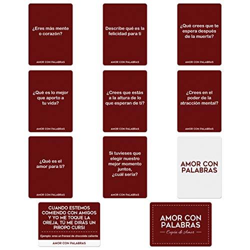 AMOR CON PALABRAS - Parejas - Sigamos conociéndonos ❤️ Juegos de Mesa para Dos Personas Perfectos Regalos para mi Novio o Novia