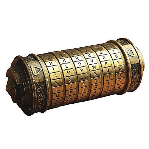 ANBIWANGLUO Código Da Vinci Mini Cryptex Regalo de Cumpleaños del Día de San Valentín para Girlfriend Boyfriend (Bronze)