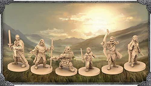Asmodee-El Señor de los Anillos, Viajes por la Tierra de Medio, Juego de Mesa, Color 10700