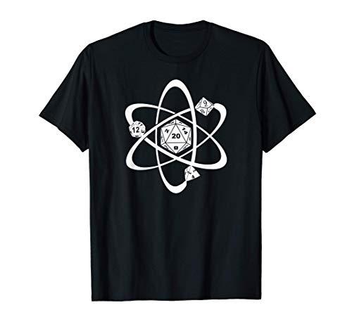 Atom D20 Dados juego de rol de mesa JdR Juego de Rol D20 Camiseta