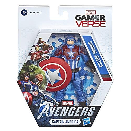 Avengers- Videojuego Figura Cap, 15 cm (Hasbro E98655X0)