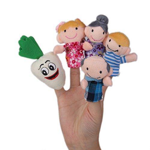 B Baosity 24x Marionetas de Dedo Liebre Tortuga Ricitos de Oro Osos Bebé Niños Juguetes Educativos