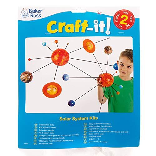 Baker Ross Juguete Educativo Crea tu Propio Sistema Solar (Paquete de 2 kits) Manualidades creativas para niños