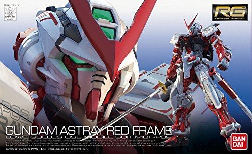 Bandai Hobby - Figura Gundam Astray Red 1/144 RG, Color Rojo y Blanco BAN200634