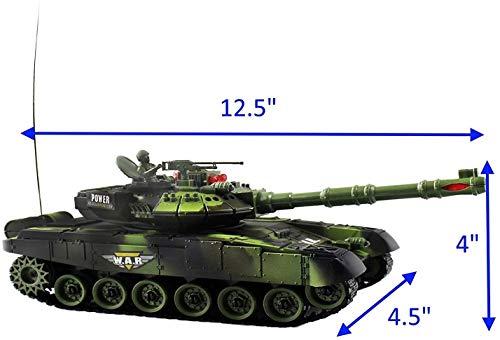 Bck 2 tanques de juegos de guerra de control remoto de infrarrojos con indicadores de vida LED, RC 12 '' Fighting Battle Tanks Luces y luces realistas, Conjunto de niños y adultos Seguro y duradero, G