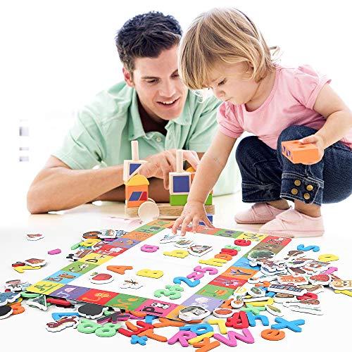 BeebeeRun Letras y números magnéticos para Niños,Juguetes Nniños 2 años Juguetes Niños 3 años,Números Magnéticos Letras Alfabeto Imanes Juguete Educativo