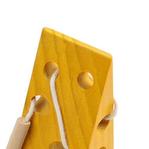 BelleStyle Montessori Activity Wooden Cheese Toy, Niños Niños Aprendizaje Temprano Educativo Bloque de Madera Rompecabezas de Juguete