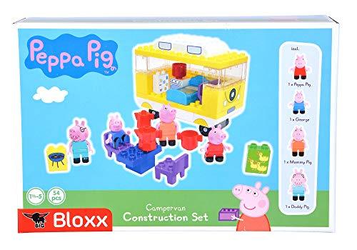 Big-Bloxx Peppa Pig Camper – Juego de construcción de Carrito de Camping de Peppa Pig de Peppa Pig, Juego Compuesto por Familia y Camper, 54 Piezas, para niños a Partir de 18 Meses