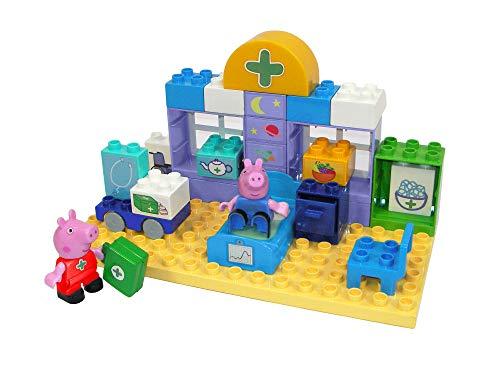 BIG -Bloxx Peppa Pig - Maletín médico - Juego de construcción de maletín de Cuidado médico Peppa Pig y George y maletín de médico, 32 Piezas, para niños a Partir de 18 Meses