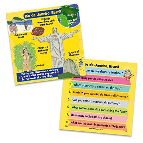 Brain Box Ciudades Juegos de Cartas