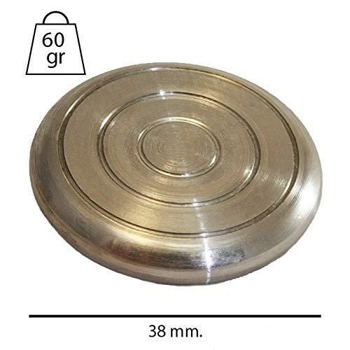 CADENAS - 10 Fichas de Acero de Juego de la Rana con Caja de Madera