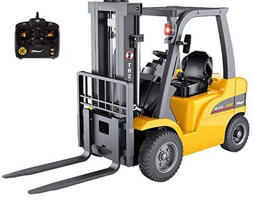 Carretilla elevadora de control remoto Jumbo RC Race superior - Camiones de juguete para automóviles de construcción de 8 canales, 1:10 ~ Heavy Metal - Para niños Niños Adultos Niños ~ (TR-216)