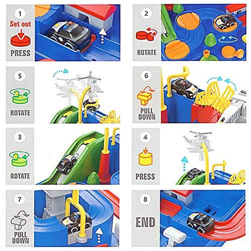Circuito de tren para niño, autocaravana, pista aventura, niños, coche, juguete de aventura, juegos de construcción, tren, juguetes educativos 2, 3, 4, 5, 6 años
