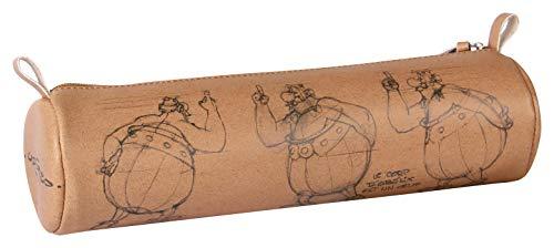 Clairefontaine 812957C Astérix Crayée - Estuche redondo (6 x 21 cm, piel sintética, estampada, visual)