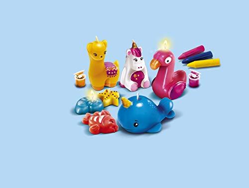 Clementoni 18563 CREA Idea - Velas de Animales Modernas, Velas para regar y Decorar, Coloridas Manualidades con Formas de Animales, Juguetes creativos para niños a Partir de 8 años