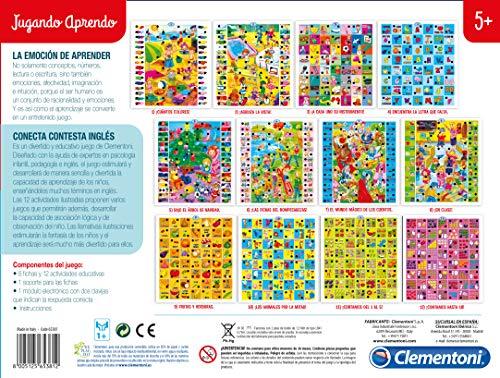 Clementoni - Conecta-Contesta, juego electrónico educativo, aprendo inglés (65381.2)