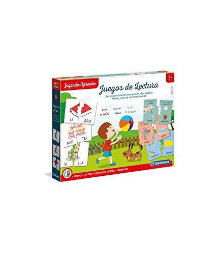 Clementoni - Jugando Aprendo Juegos de Lectura, Multicolor (55310)