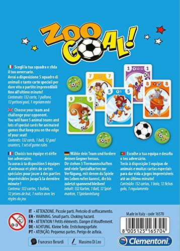 Clementoni - Zoo Goal - Juego de memorias, Multicolor, 16570