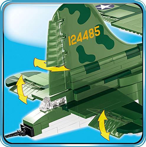 COBI- Bloques de construcción, Color Verde y Gris. (5707)