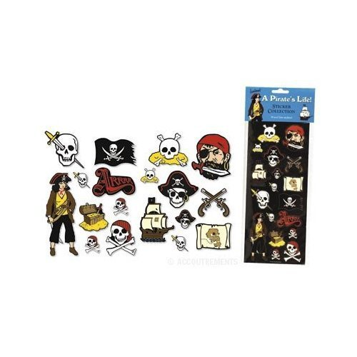 Colección de pegatinas de la vida de un pirata
