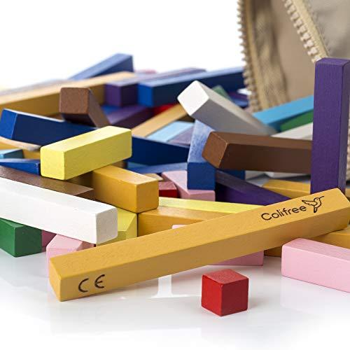 Colifree Regletas matematicas, Material Montessori, Educativo, de Madera, en Bolsa