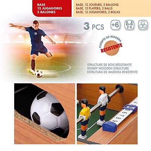 COLORBABY - Futbolín de mesa, para adultos y niños a partir de 6 años, sin patas, madera