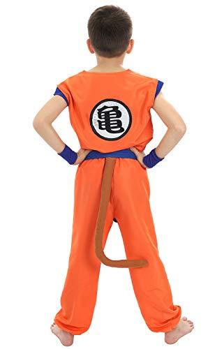 CoolChange Disfraz para niños de La Bola del dragón, Traje de Entrenamiento del Genio de Las Tortugas, tamaño 110