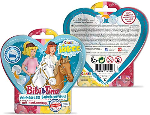 CRAZE INKEE Magisches Duftbad Badekonfetti XL Badeset Bibi & Tina Badespaß für Kinder B&T 29541-Set Aroma mágico y Confeti baño, Color para bañera. (29541)