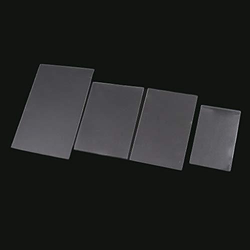 Cuigu Lote de 100 fundas mágicas transparentes para proteger los naipes de los juegos de cartas, como póquer, tarot, Tres Reinos, plástico, transparente, A