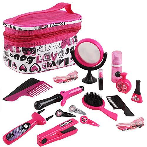 deAO Estilismo y Peluquería Conjunto Juego Belleza y Moda Accesorios Neceser Maquillaje Secador Maquina de Trenzas