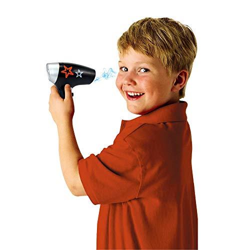 deAO Estilismo y Peluquería Juego de Barbero a la Moda para Niños y Niñas Conjunto de 8 Piezas Incluye Cinturón para Accesorios, Secador de Aire Frio y más Accesorios (Azul)