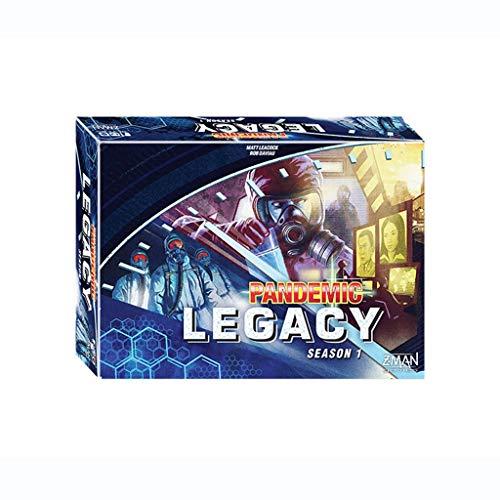 DEF Pandemic Legacy Temporada 1 Juego de Mesa de Juego, Juego de Estrategia clásico para Adolescentes y Adultos Ideal para reuniones Informales (Color : Blue)