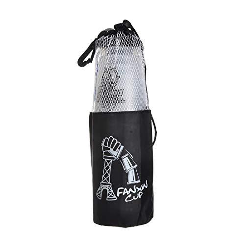 DEWEL 12 Vasos para Stacking de Plástico con 1 Bolsa y 1 Polo Portátil para Guardar Color de Blanco