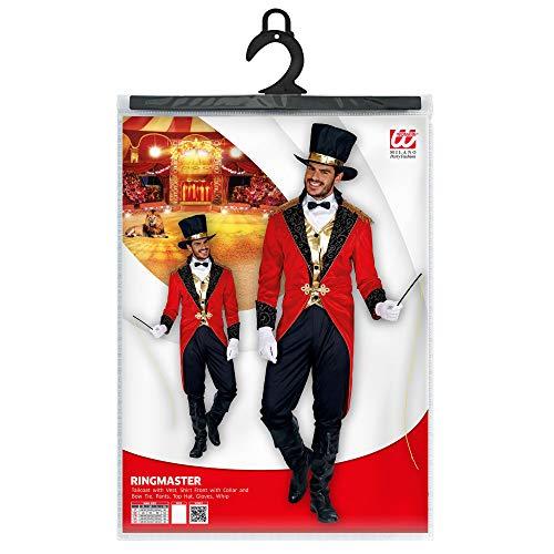 Disfraz de director de circo de Widmann 09551, para hombre, negro/rojo, talla S , color/modelo surtido