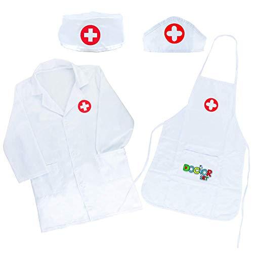 Disfraz Juguete de Doctora Enfermera Disfraz Cosplay de Médico Juego de rol Regalos Disfraz Medico Niño 3 4 5 6 7 Años