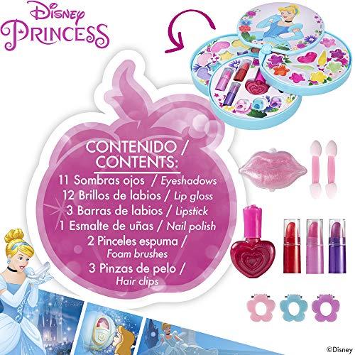 Disney - Set maquillaje infantil niñas Maletin maquillaje Princesas Disney para niños niñas Juego de maquillaje para niñas 5 años Pintauñas Niñas Manicura juguete