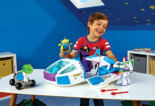 Disney Toy Story 4 Nave Espacial Buzz Lightyear, juguetes niños + 3 años (Mattel GJB37)