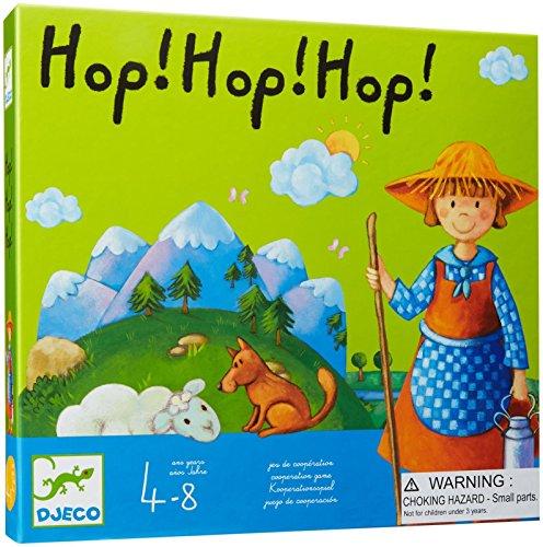 Djeco 81237 Hop! hop! hop! Juego de cooperación, Multicolor