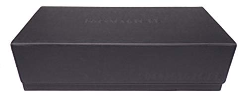 docsmagic.de Premium 2-Row Trading Card Storage Box Black + Trays & Divider - MTG PKM YGO - Tarjetas Coleccionables Caja de Almacenaje Negra