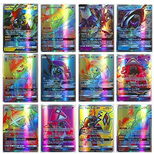 Dorara 120 Piezas Pokemon Tarjetas (GX115+MEGA5), Tarjetas de Pokemon GX Mega Flash, Juego de Cartas Puzzle Fun, Tarjeta Coleccionable, Mejor Regalo Infantil