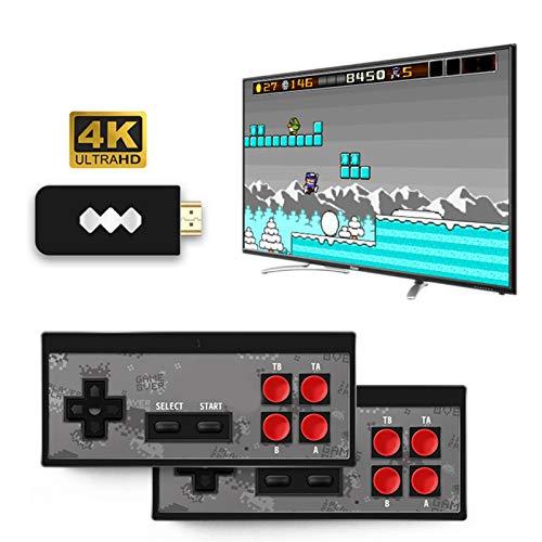 Ecisi Consola de Videojuegos 4K H-DMI incorporada en 568 Mini Juegos clásicos, Controlador de Gamepad Retro de Mano USB para Jugadores duales
