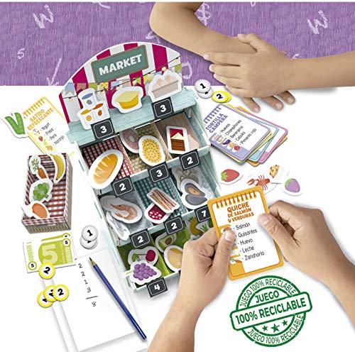 Educa- Aprender es Divertido: La Lista de la Compra, Aprende sobre Alimentos y su importancia nutricional Juego Educativo para niños, a Partir de 5 años, Multicolor (18704)