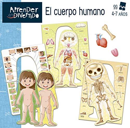 Educa- Aprendo Aprender es Divertido El Cuerpo Humano, Juego educativo para niños, a partir de 4 años (18701) , color/modelo surtido