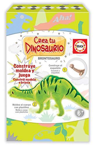Educa- CREA Y Moldea Tu Brontosaurio Juego Educativo Para Niños, Multicolor (18364)
