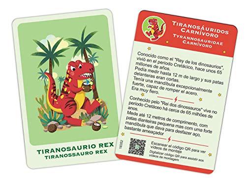 Educa- CREA Y Moldea Tu T-Rex Juego Educativo Para Niños, Multicolor (18352)