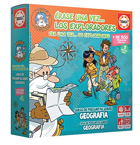 Educa - Érase Una Vez…Los Exploradores Juego de Mesa Educativo, Multicolor (18857))
