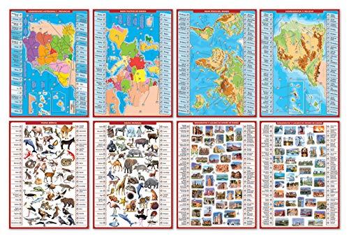 Educa- Geografía Juego Connector para Niños, Multicolor (17204)