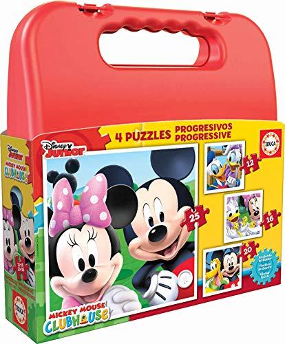 Educa Mickey Mouse Maleta con Puzzles Progresivos, multicolor (16505)